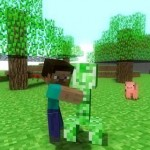 Как приручить крипера в Minecraft