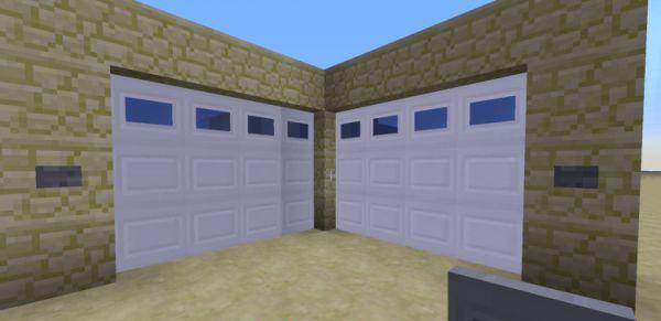 Minecraft двери для гаража