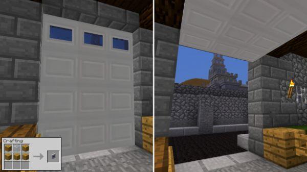 Майнкрафт двери для гаража